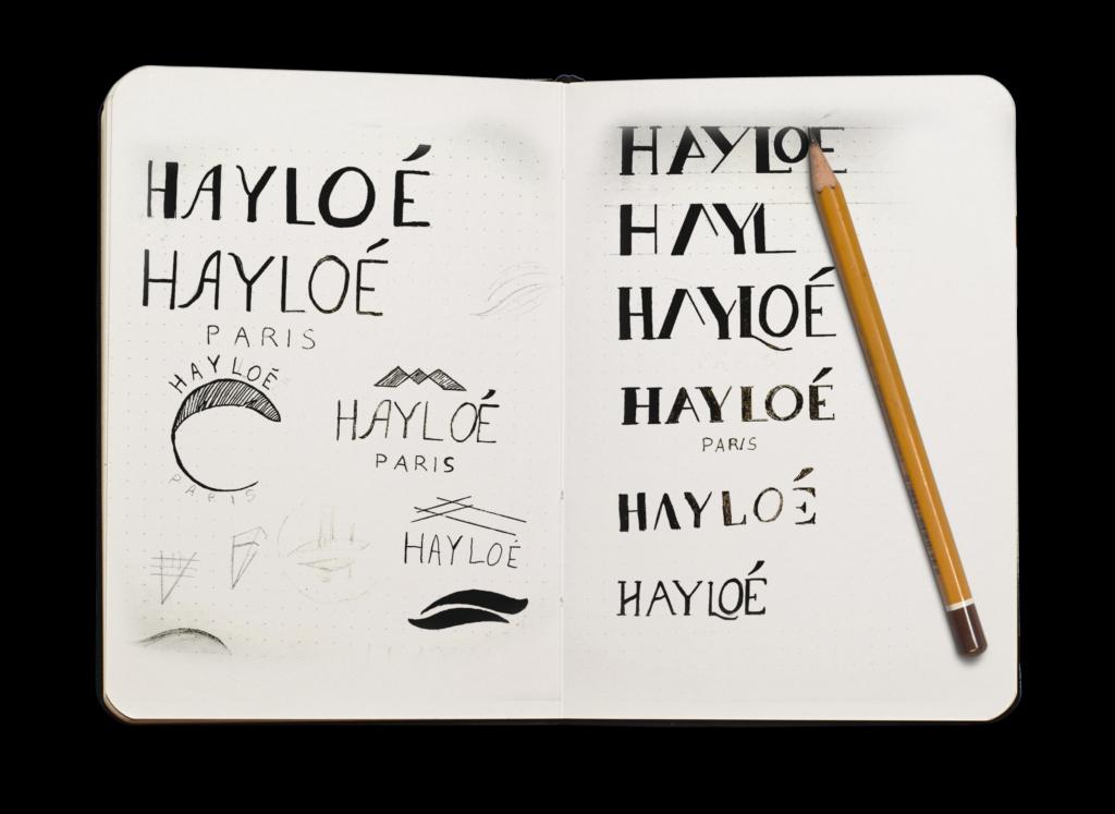 Croquis des logos Hayloé