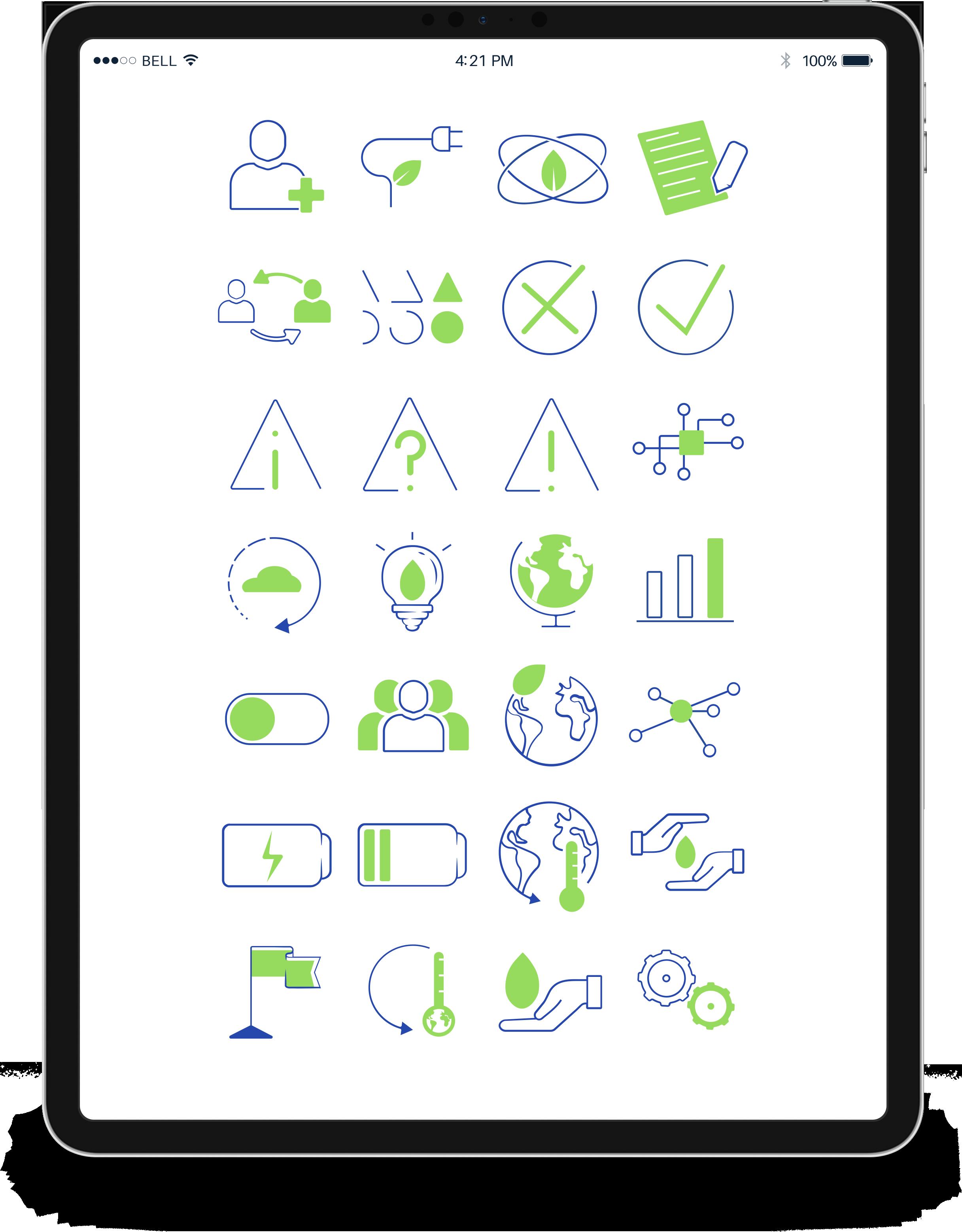 Visuel avec tous les pictogrammes